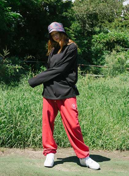 LOGO SIMPLE PANTS_RED