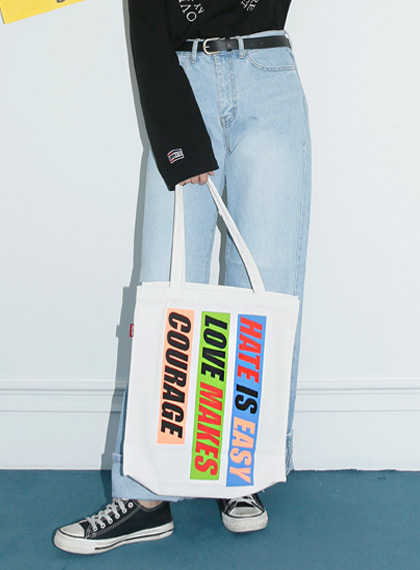 Box lettering Eco-Bag | 럽미