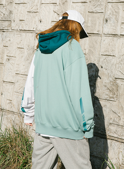PARALLEL LOGO HOODIE ZIP-UP_MINT