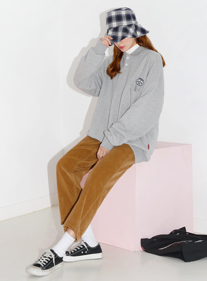 Pocket Collar Sweat Shirts | 럽미