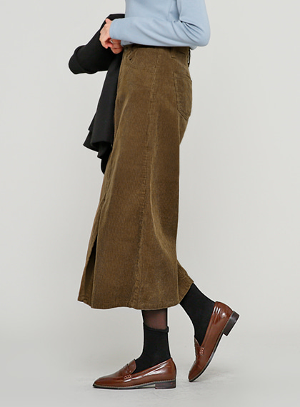 Corduroy Long Skirt | 럽미