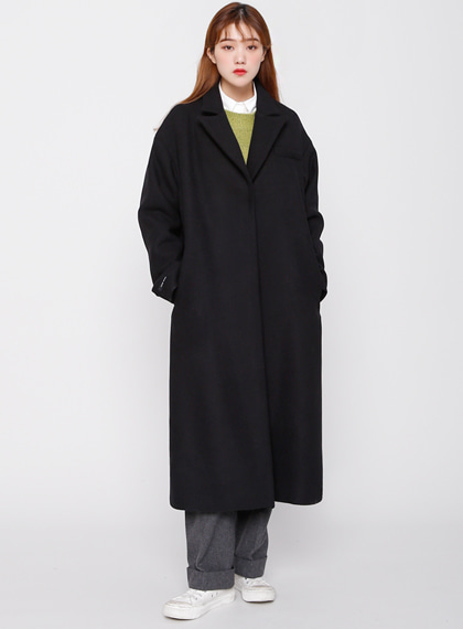 Snap Basic Coat(울50%) | 럽미