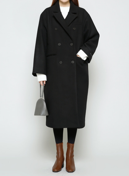 Pocket Double Long Coat(울50%)