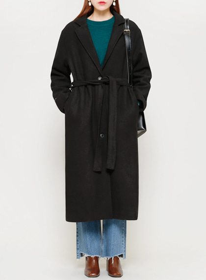Single Long Coat(울50%)