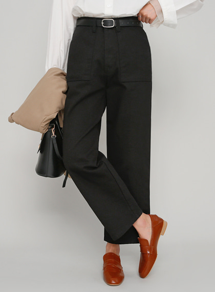 Square Pocket Cotton Pants | 럽미