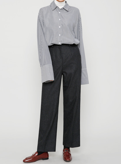 Wool Slim Straight Slacks(울60%) | 럽미