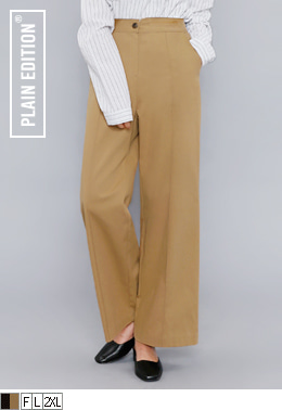 Pintuck Cotton Slacks