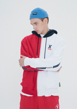 PARALLEL LOGO HOODIE ZIP-UP_RED | 럽미