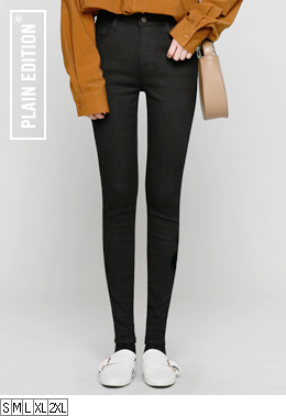 Black Basic Skinny(기모추가)